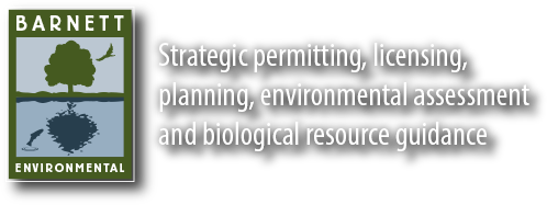 Barnett Environmental Strategic permitting, licensing, planning, environmental assessment and biological resource guidance